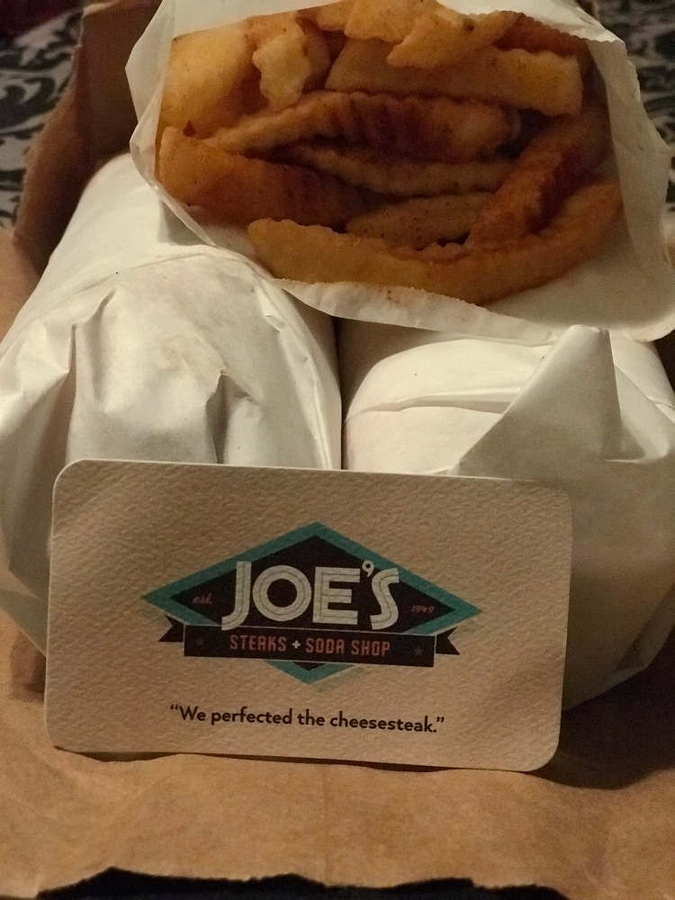 Cheesesteaks and Old Bay Fries from Joe's